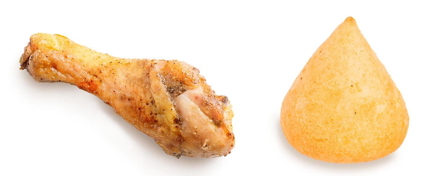 Coxa de galinha x coxinha de frango